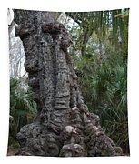 Old Trunk In The Swamp Tapestry
