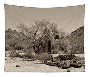 Old Tucson Landscape  Tapestry
