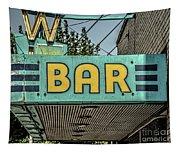 Old Vintage Bar Neon Sign Livingston Montana Tapestry