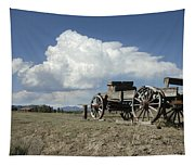 Old Wagon Out West Tapestry