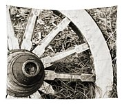 Old Wagon Wheel Tapestry