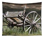 Old Wheels Tapestry