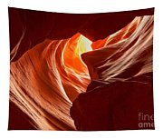 Old Woman In The Canyon Tapestry