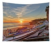 Olhos D'agua Village Sunset Tapestry
