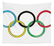 Olympic Rings Pencil Tapestry