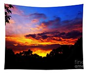 Ominous Sunset Tapestry