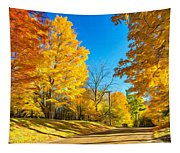 On A Country Road 6 - Paint Tapestry