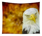On Fire The American Bald Eagle Tapestry