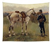 On Patrol In The Country Tapestry