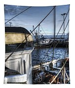 On The Docks In Provincetown Tapestry