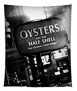 On The Half Shell - Bw Tapestry