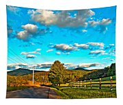 On The Road In Wv Tapestry