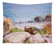 On The Shore Of The Ocean Tapestry