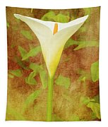 One Arum Lily Tapestry