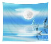 One Moon Light Sea Tapestry