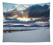 One More Moment - Sunburst Over White Sands New Mexico Tapestry