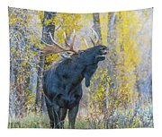 One Proud Bull Moose Tapestry