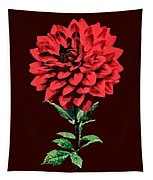 One Red Dahlia Tapestry