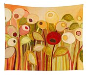 One Red Posie Tapestry