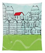 One Red Roof Tapestry