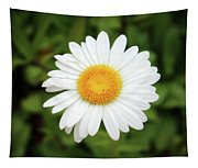 One White Daisy Tapestry