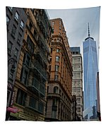 One World Trade Center New York Ny From Nassau Street Tapestry