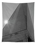 One World Trade Center New York Ny Sunset Black And White Tapestry