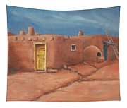 One Yellow Door Tapestry