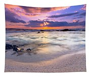 O'oma Beach Sunset Tapestry