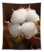 Open Cotton Boll Tapestry