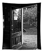 Open Door B-w Tapestry