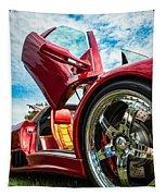 Open Sesame Red - Lamborghini Diablo  Tapestry