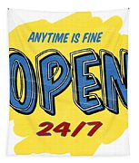Open Sign Tapestry by Edward Fielding