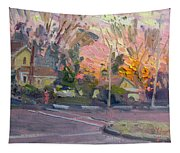 Orange And Pink Sunset Tapestry