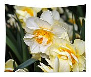 Orange And Yellow Double Daffodil Tapestry