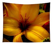 Orange And Yellow Lily Tapestry