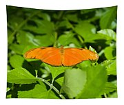 Orange Butterfly Tapestry