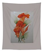 Orange Callas Tapestry