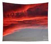 Orange Clouds Tapestry