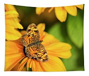 Orange Crescent Butterfly Tapestry