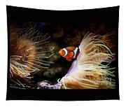 Orange Fish In Sea Anemones Tapestry