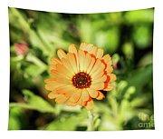 Orange Flower Tapestry