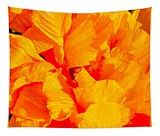 Orange Frills Tapestry