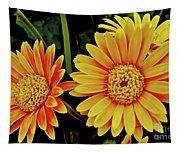 Orange Gerbera Daisies Tapestry