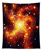 Orange-gold Galaxy. Space Art Tapestry