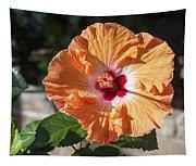 Orange Hibiscus Tapestry