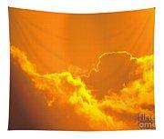 Orange Misty Sky Tapestry