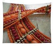Orange Necklace Tapestry