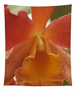 Orange Orchid 2 Tapestry
