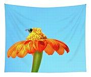 Orange Pop Flower Cafe Tapestry